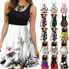 Women's A-line Sleeveless Mini Dress Sundress Summer Casual Tank Dress Beachwear
