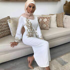 WOMEN ISLAMIC MUSLIM DRESS KAFTAN ABAYA PARTY LADIES MAXI PRAYER FORMAL JILBAB