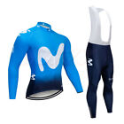 Winter Mens Cycling Long Sleeve Jersey Jacket Pants Set Breathable Bicycle Suit