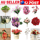 Artificial Silk Fake Rose Flower Floral Wedding Bouquet Home Party Decor