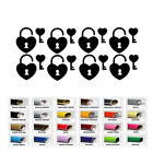 8 Pairs Heart Keyhole and Key Stickers Envelope Seals Birthday Valentine's Party