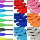 1pair Shoelaces Colorful Coloured Flat Round Bootlace Shoe Strings Laces Z0w7