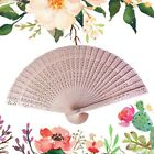 Ladies Sandalwood Hand Held Fan Wooden Holiday Wedding Gift Exquisite Summer