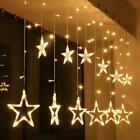 Led Curtain Lights With Stars 8 Modes String Fairy Lights Home Decor Plug In Uk
