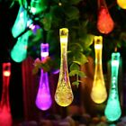 Drop-shaped Solar String Lights Holiday Decoration String Lamp 5 Meters 20 LED