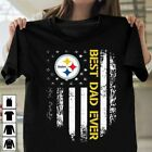 Pittsburgh Steelers Best Dad Ever American Flag T-shirt Father Day Gift Ideas $13.99 USD on eBay