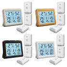 1 Digital LCD Display Outdoor Indoor Thermometer Hygrometer Temperature Humidity