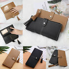 Long Leather Wallet for Women Lady Trifold Card Clutch Phone Bag Purse Handbag