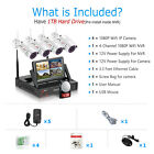 """ANRAN 1080P WiFi Camera Security System Outdoor CCTV 7""""Monitor 1TB Home Wireless"""