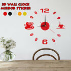 3D DIY Wall Clock Acrylic Mirror Sticker Self-Adhesive Home Decoration For Gifts