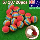 20X Golf Swing Training Indoor Practice Sponge Ball Golf Balls Rainbow Color AU