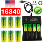 16340 Cr123a Battery 3.7v Rechargeable Lithium Batteries & Chargers Usa Stock
