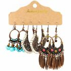 Boho Gypsy Earrings Tribal Ethnic Festival Tassel Ear Hook Drop Dangle Jewelry
