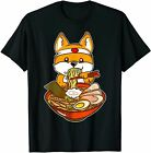 Kawaii Japanese Anime Shiba Inu Ramen T-Shirt Funny Black Vintage Gift Men Women
