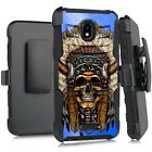 Holster Case For WIKO LIFE C210AE/ LIFE 2 U307AS Cover- CHEROKEE CHIEF SKULL