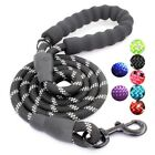 PREMIUM  5 FT Dog Leash Padded Handle Reflective Nylon Climbing Rope