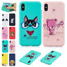 Cute Pattern With Strap Bumper Shockproof Protective Case Cover For iPhone 5/6/7
