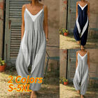 Women's Cami Strappy Jumpsuit Romper Loose Harem Playsuit Dungaree Pants Summer