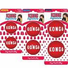 KONG Signature Ball Dog Fetch Toy Durable Rubber High Bounce 2pk