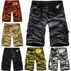 Pants  Military Cargo Shorts Combat Trouser Casual Mens Camo Work Army