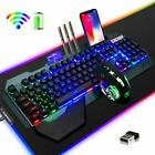 3in1 Rechargeable Wireless Backlit Gaming Keyboard Mouse and RGB Mouse Pad Combo