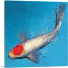 ARTCANVAS Tancho Koi Carp Fish Japan China Asia Canvas Art Print