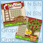 APPLE ORCHARD Printed Premade Scrapbook Pages
