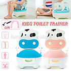 Potty Training Toilet Seat Baby Portable Toddler Chair Kids Baby Trainer+Brush image