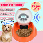 LCD Screen Automatic Pet Food Feeders Voice Recorder Food Bowl Water Dispenser ~