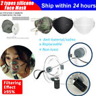 2 types Silicone Air Filter Mouth Cover Reusable Respirator Face Masks Purifyer