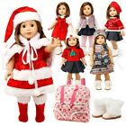 For American Girl 18  Inch Dolls Clothes Dress Holiday Outifts Accesssories Set