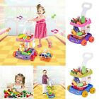 Multicolor Child Kitchen Pretend Play Toys Set Fake Vegetable Fruit Trolley Toy