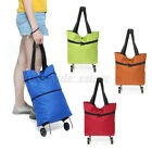 Foldable Trolley Bag Portable Shopping Cart Folding Home Travel Luggage Large H