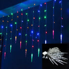 96/216 LED Outdoor Christmas String Fairy Wedding Party Icicle Light Lamp Decor