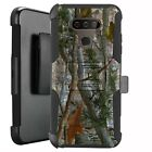 Holster Case for LG Harmony 4/ Premier Pro Plus Hybrid Phone Cover - CAMO BRANCH