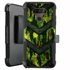 Holster Case for LG Harmony 4/ Premier Pro Plus Phone Cover - GREEN CAMO BADGE