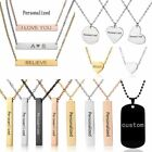 Personalized Stainless Steel Pendant Necklace Custom Engraved Letter Name Photo