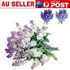 Lavender Fake Flower 2pcs Bouquet Garden Plant Diy Artificial Silk Home Decor