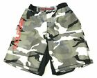 Woldorf USA MMA Fighting Training Boxing Sparring Board Shorts Grey Camo