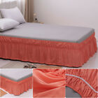 MOHAP Bed Skirt Dressing Dust Ruffle 14'' Drop Wrap Around Bed No Top Queen Size