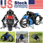 2In1 Motorcycle Mini Quadcopter 2.4G Land Air Dual Playing RC Drone Kid Toy Gift
