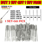 50 Needles Sewing Machine Needles, Universal Regular Point For Singers R0