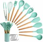 Silicone Kitchen Utensil Set Heat Resistant Cooking Tools Spatula Spoon Tongs US