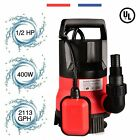 1/2 HP Submersible Pump 110V/60Hz Clean/Dirty Submersible Water Sump Pump Flood.
