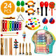 Toddler Musical Instruments Set 24Pcs Percussion Educational Toys for Boys Girls