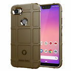 For Google Pixel 3 3a 4 4XL 4a Case Rubber Silicone Shockproof Rugged Back Cover