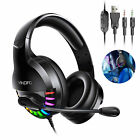 Stereo Bass Surround Mic Gaming Headset Headphone For PS5/Xbox One/PC Laptop