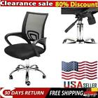 Ergonomic Mesh Swivel Chair Mid-back Computer Office Desk Chair Metal Base Black