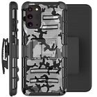 Holster Case For Galaxy Note20/ Note 20 Ultra 5G Phone Cover - GRAY STYLISH CAMO