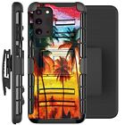 Holster Case For Galaxy Note20 / Note20 Ultra 5G Phone Cover - WATERCOLOR PALM